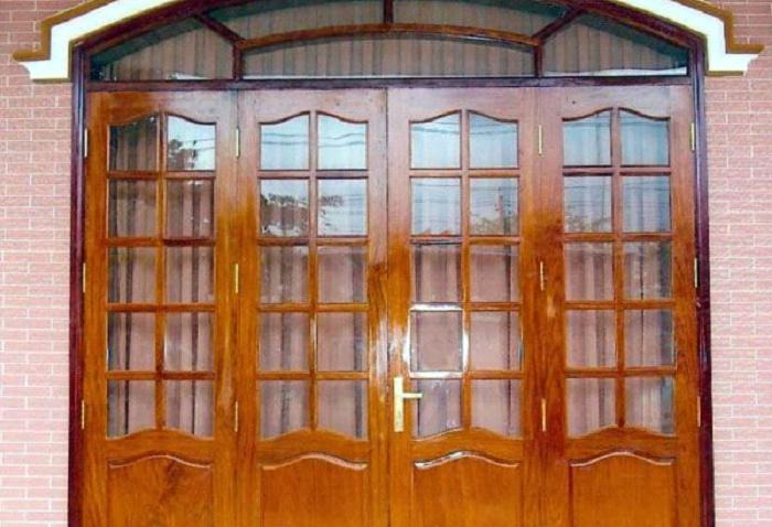 cửa sắt giả gỗ